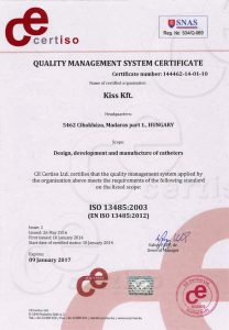 Certificate ISO 13485:2003